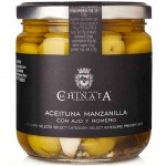 Manzanilla Olives with Garlic & Rosemary - La Chinata