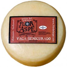 Semi-Cured Cow Cheese - Flor del Aspe